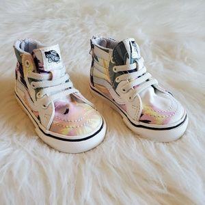 Vans Toddler Tropical Floral High Top Zip Sneakers